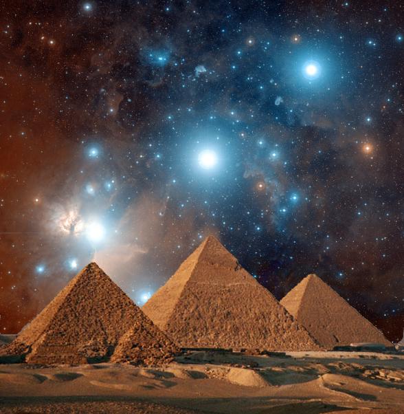 Ba kim tự tháp Menkaure nằm thẳng hàng với ba ngôi sao tạo nên chòm sao Thắt lưng của Orion