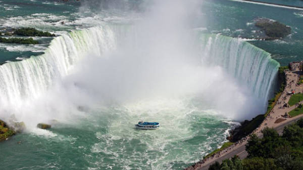 Thác Niagara, biên giới Mỹ và Canada
