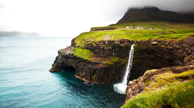 Thác Bøssdalsfossur Falls, biên giới Na Uy và Iceland