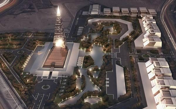 Tòa tháp được bao quanh bởi nhiều các cơ quan chính phủ, các trung tâm thương mại lớn và các khu trung tâm giải trí.