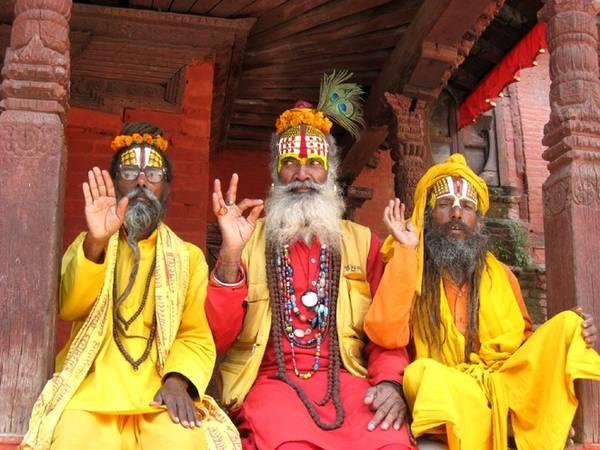Tu sĩ ở thủ đô Kathmandu.