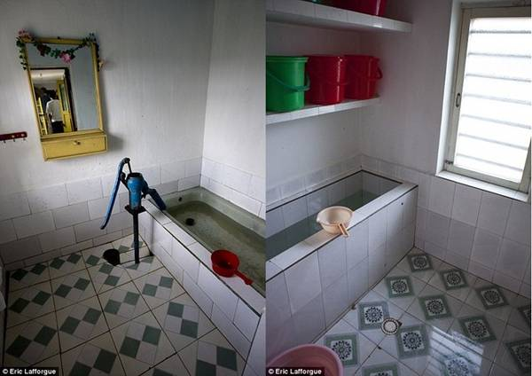 Phòng Lafforgue ở có nhà tắm riêng với bồn cầu, một điều xa xỉ ở khu vực này.
