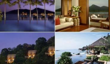 Các biệt thự tại khu nghỉ dưỡng được bố trí hợp lý dọc theo đảo. Ảnh: Touropia.com