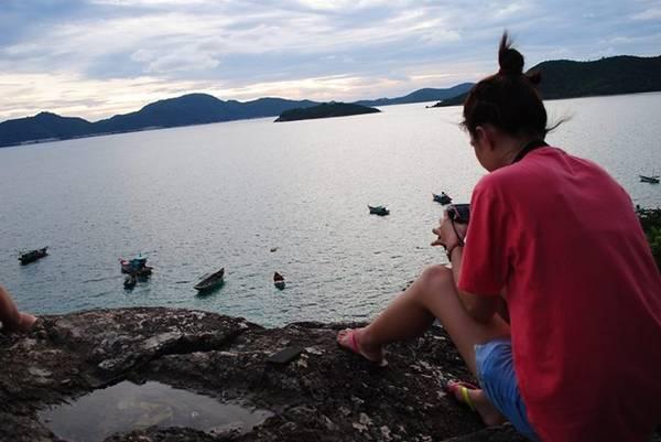 Du khách sẽ rất dễ dàng để lựa chọn một góc ảnh đẹp tại Nam Du.
