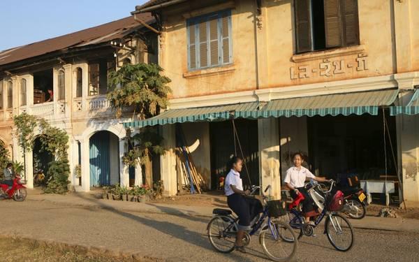 Savannakhet có nhiều công trình kiến trúc mang đậm nét văn hóa Pháp