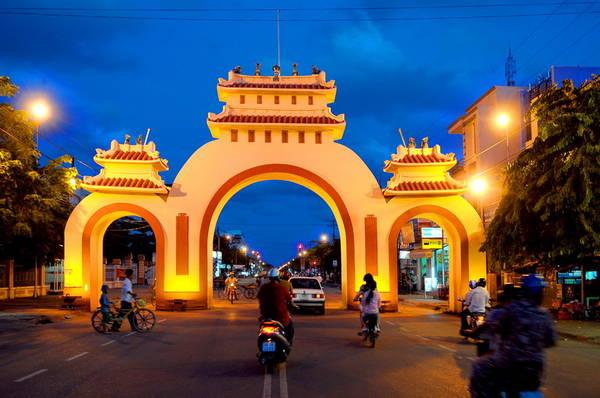 Cổng Tam Quan thành phố Rạch Giá.