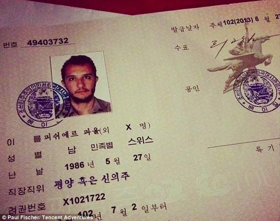 Trên visa Triều Tiên cấp cho du khách, đó là năm 102 chứ không phải 2013, vì năm ở đây được tính từ năm sinh của cố chủ tịch Kim Il-Sung, năm 1911.