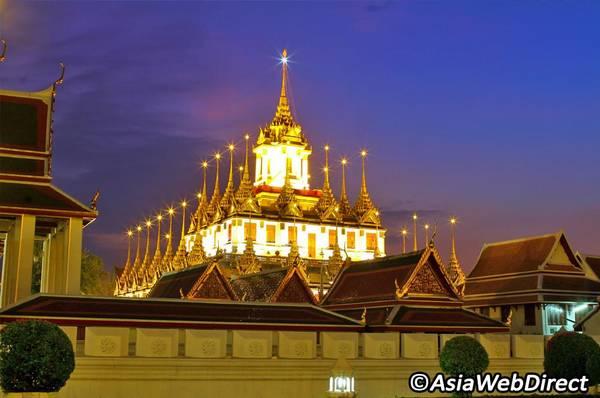 Kiến trúc độc đáo của chùa Loha Prasat. Ảnh: Bangkok.com