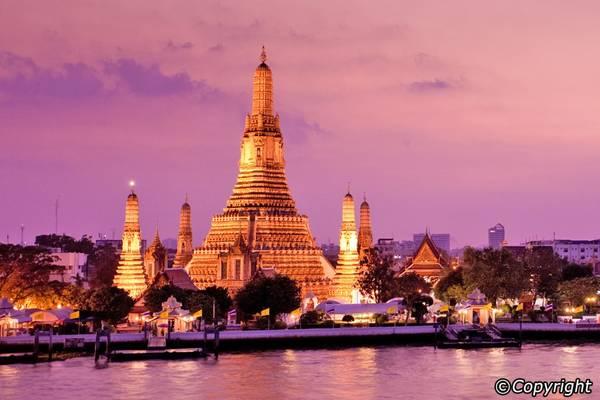 Chùa Wat Arun là một điểm đến mang tính biểu tượng của Thái Lan. Ảnh: Bangkok.com