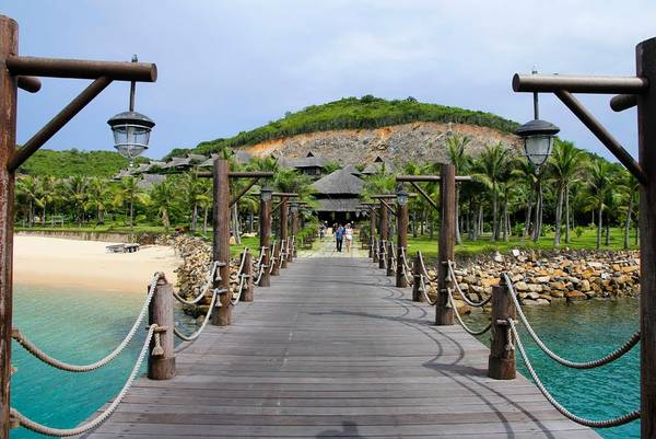 Một góc xinh đẹp trênđảo Hòn Tằm.Ảnh: panoramio.com