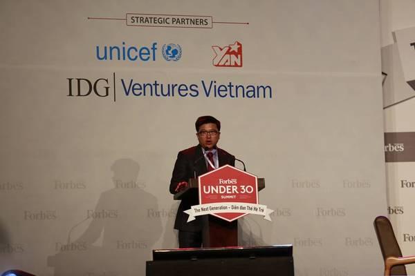 Ông Nguyễn Bảo Hoàng, Chủ tịch Công ty Truyền Thông Tương Tác, đơn vị phát hành Forbes Vietnam phát biểu.
