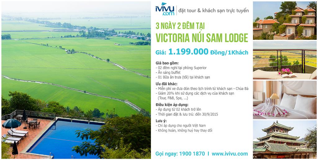 Đặt ngay Victoria Núi Sam Lodge để có những trải nghiệm tuyệt vời nhất cho chuyến du lịch Châu Đốc.