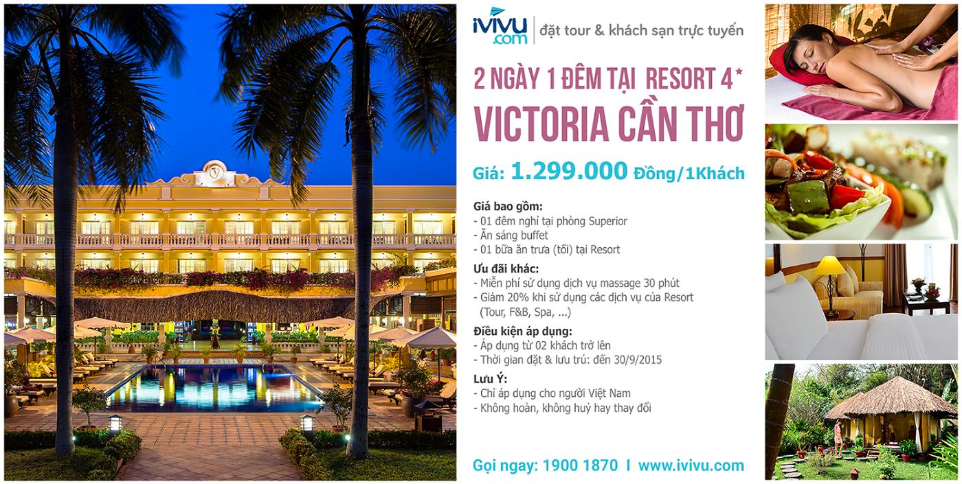 Victoria Cần Thơ  - địa điểm lưu trú tuyệt vời cho chuyến du lịch Cần Thơ.