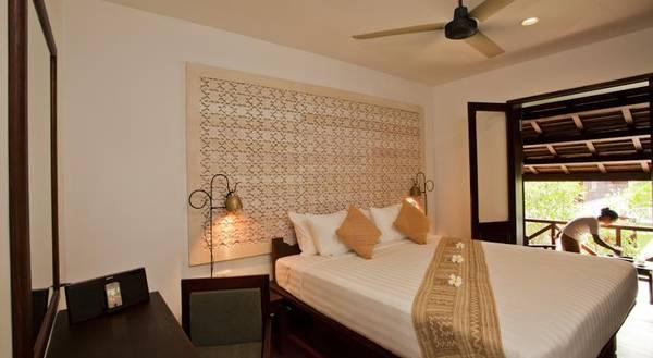 Buổi tối du khách có thể chọn nghỉ ngơi tại phòng Mekong Suite.