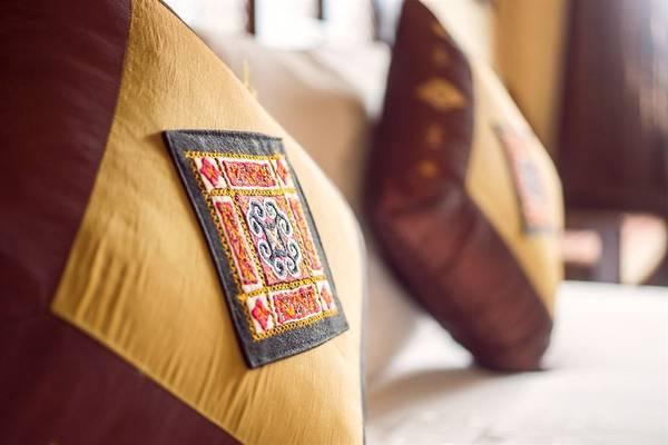 Các vật dụng trong phòng nghỉ được trang trí tinh tế đến từng chi tiết.