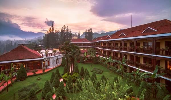 Victoria Sapa Resort & Spa nhìn từ bên ngoài. Ảnh: victoriahotels.asia