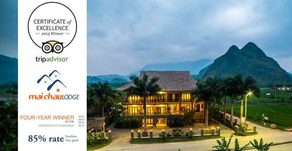 Mai Chau Lodge đón nhận Certificate of Excellence 4 năm liên tiếp.