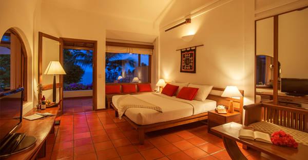 Khoáng đạt và tối giản trong thiết kế chính là những gì Bungalow Deluxe hướng biển nhắm tới để tôn lên một không gian sống tinh tế và rất đặc trưng cho phong cách Victoria Phan Thiết. Ảnh: victoriahotels