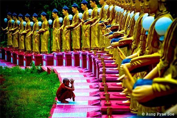 Tượng Phật ở miền Đông Bago.