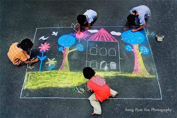 Trẻ em là trẻ em - Yangon.