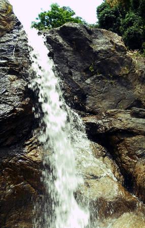 Thác Đổ là một cột nước cao 40m đổ xuống như một dải lụa trắng vắt ngang trời
