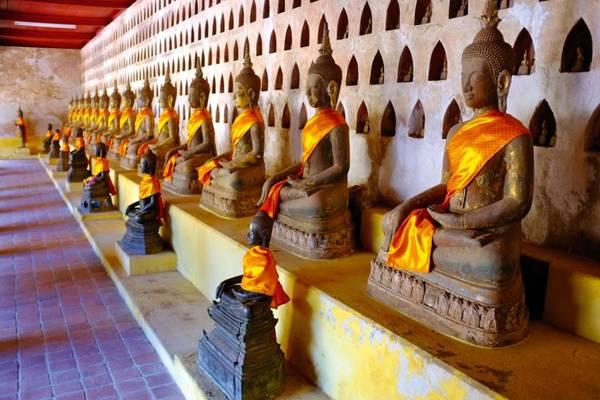 Tổng số tượng Phật ở chùa lên đến 6.840 bức lớn nhỏ rất quý hiếm.Ảnh: Internationaltravellermag.com