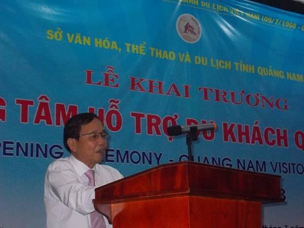 Lễ khai trương trung tâm hỗ trợ du khách tại Quảng Nam.