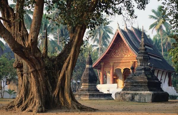 Wat Wisunarat là một trong những ngôi chùa cổ nhất ở Luang Prabang, nằm trong danh sách di sản văn hóa thế giới. Ảnh: asianwaytravel.com