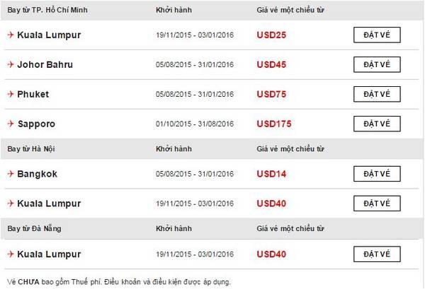 Ngoài vé 0 đồng, bạn còn có thể săn các chặng bay khác với giá cực rẻ.