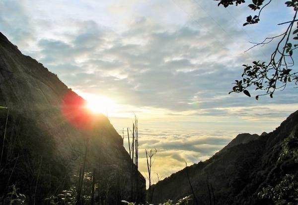 Description: Mặt trời nhô ra khỏi núi từ rất sớm nên du khách muốn thu trọn bình minh thì phải khởi hành từ mốc 2.800 m vào khoảng 3h30 - 4h sáng.