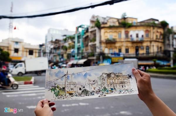 Là một họa sĩ màu nước, ông phản ánh khung cảnh thực tế với màu sắc chân thực và nét bút sắc sảo.