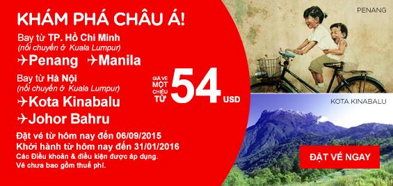 Đến Indonesia, Philippines, chỉ với 54 USD/chiều