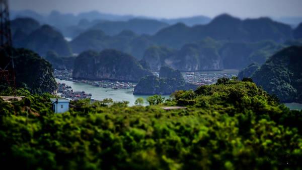 Vịnh Lan Hạ tuyệt đẹp nhìn từ trên cao. Ảnh: taducanh/flickr.com