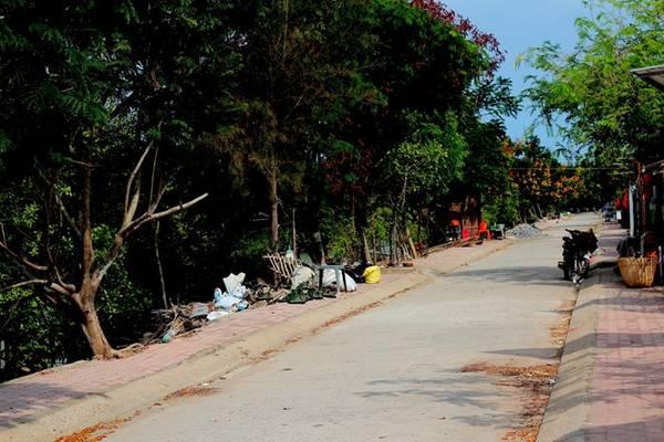 Đường dẫn tới xã đảo Thiềng Liềng.