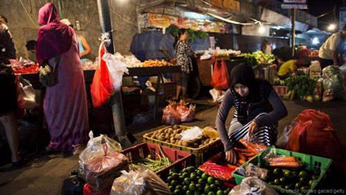 Chợ đêm ở Jakarta