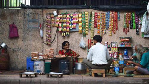 Quán vỉa hè ở thủ đô Delhi