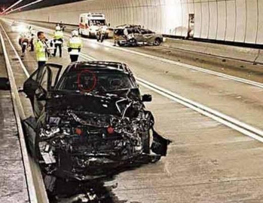 Hình ảnh được ghi nhận tại hiện trường một vụ tai nạn trên đường cao tốc Karak. (Nguồn: Internet)