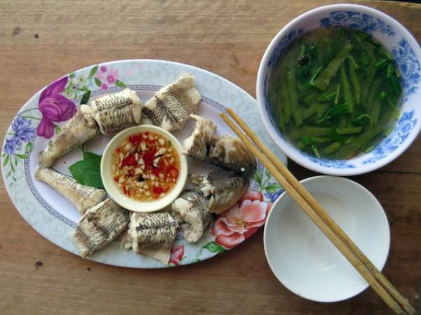 Canh cá thửng nấu lưỡi long - Ảnh: Minh Kỳ