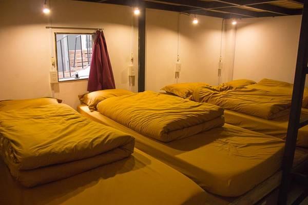 Tầng 2 trở lên là khu vực hostel