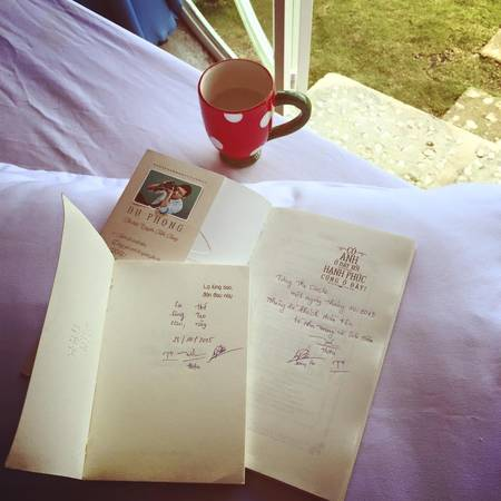 Một trong những vị khách đầu tiên của The Circle Vietnam để lại những dòng kỷ niệm cho hostel