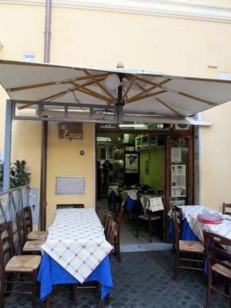 Quán ăn Da Enzo Al 29 Đừng rời Rome nếu bạn chưa thử cucina romana - ẩm thực truyền thống Roman. Không nơi nào tại Rome có thức ăn ngon hơn Da Enzo Al 29. Phong cách phục vụ nhẹ nhàng và các món ăn tuyệt hảo hoàn toàn xứng đáng để bạn đặt trước một bàn tại quán ăn hàng đầu này. Với phương châm chất lượng là tất cả - Da Enzo chắc chắn sẽ làm hài lòng những thực khách khó tính nhất.