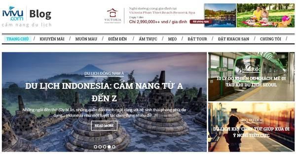 Giao diện Blog thân thiện, đầy đủ thông tin du lịch cần thiết cho một chuyến đi