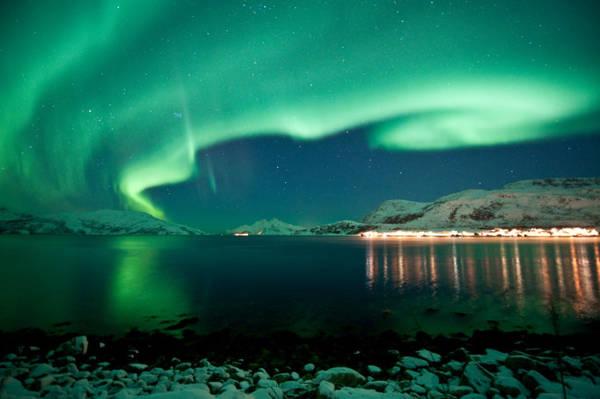 Hiện tượng Bắc cực quang ở Tromso - Ảnh: wp