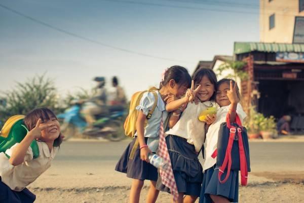 Người dân Campuchia cũng rất thân thiện và dễ mến. Ảnh: ST