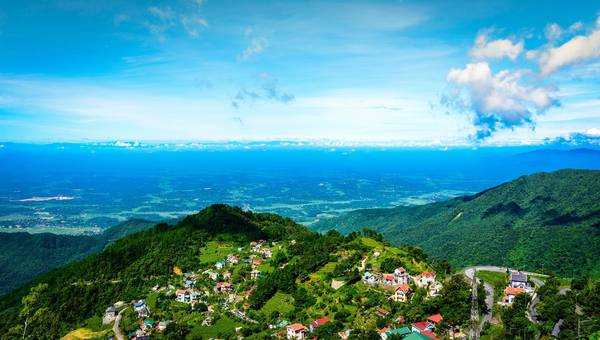 Một góc Tam Đảo nhìn từ trên cao. Ảnh: dulichtamdao.vn