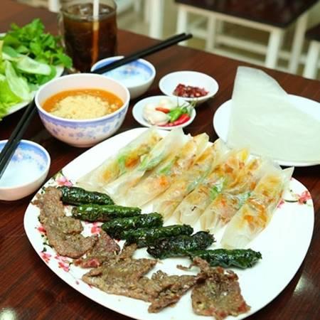 Món ram thịt nướng đã có từ rất lâu tại Quảng Ngãi. (Nguồn: Internet)
