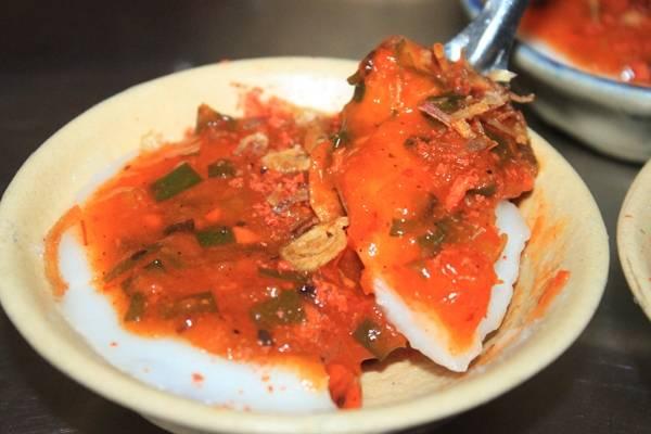 Phần nhân đặc biệt của bánh bèo Quảng. (Nguồn: Internet)