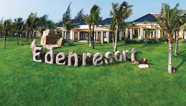 Khu nghỉ dưỡng Eden Phú Quốc nổi bật trong không gian xanh rộng 9000m2. Ảnh: iVIVU.com