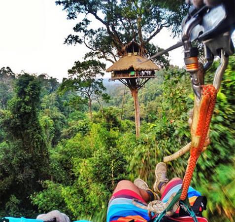 Khu bảo tồn tự nhiên Bokeo, Lào là khu vực được bảo vệ rộng hơn 1.200 km2. Đây là nơi trú ẩn an toàn của loài vượn đen má trắng quý hiếm. Một trong những điểm thu hút du khách của khu bảo tồn chính là những ngôi nhà trên cây.