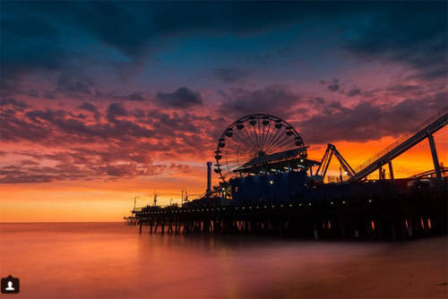 Công viên giải trí Santa Monica Pier, California, Mỹ.